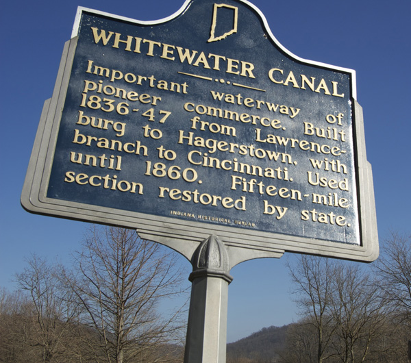Whitewater Canal plaque Metamora IN