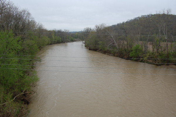 Swollen Whitewater River Brookville, IN 04/2011