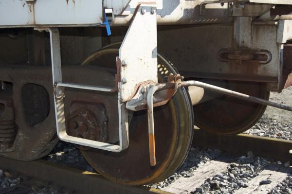 Fresh rust pattern on wheel rim