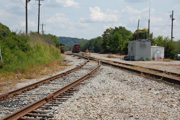 Valley Junction, Ohio looking east toward Cincinnati.