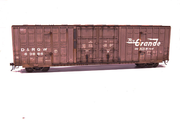 A nicely weathered Atlas O boxcar by Mike Morrison of Palmer Alaska