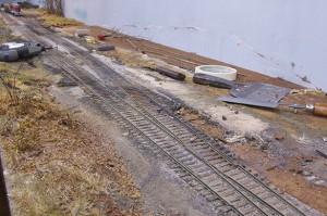 Less track near Mill St.
