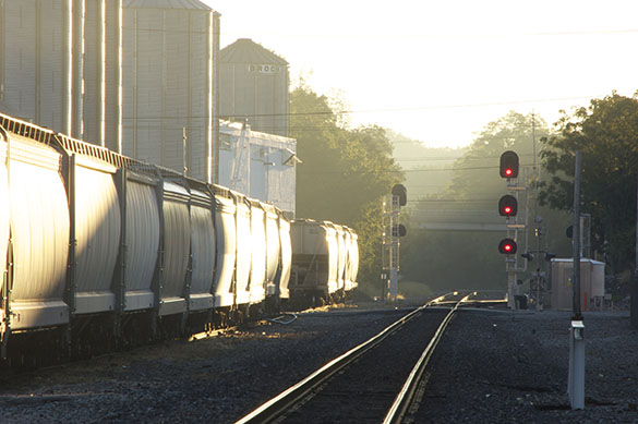 West Richmond Siding-golden hour morning light.