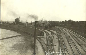 View of the west yard lead and ladder from 19th St bridge.